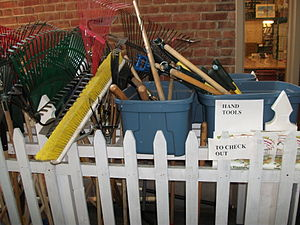 Tool library - Tools available for borrowing at Fletcher Free Library, Burlington, Vermont
