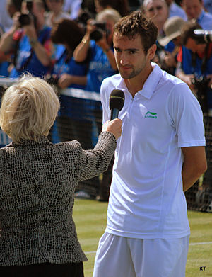 Queen's Club Championships - Marin Cilic being interviewed after winning the 2012 Queen's Club Championships