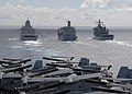 Flickr - Official U.S. Navy Imagery - USS New York and USS Gunston Hall perform a replenishment at sea with USNS Leroy Grumman..jpg