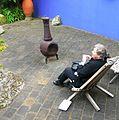 Flickr - brewbooks - Mary Ellen enjoying lunch along the Wall.jpg
