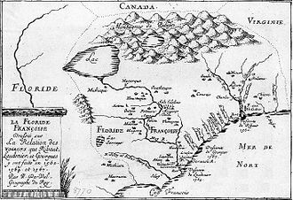 South Carolina - Later map of French Florida.