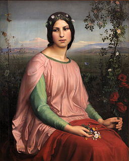 <i>Flower of the Fields</i> painting by Louis Janmot