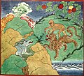 Folk Tales from Tibet - The Tiger and the Monkey approaching the Jackal's den.jpg
