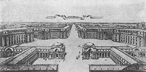 Ivan Fomin - Novy Peterburg, perspective plan, 1912