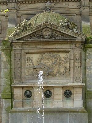 Fontaine de Léda - Fontaine de Léda, (1807), hidden behind the Medici Fountain in the Luxembourg Garden