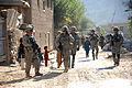 Foot patrol near Forward Operating Base Blessing, Kunar.jpg