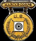 Ex-USMC Gold Rifle Marksmanship Competition Badge.png