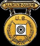Former USMC Gold Rifle Marksmanship Competition Badge