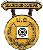 Former U.S. Marine Corps Gold Rifle Marksmanship Competition Badge