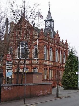 Withington - The Grade II listed former Withington Town Hall in the Albert Park conservation area