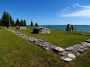 Fort St. Joseph (Ontario) - Image: Fort St. Joseph National Historic Site, blockhouse
