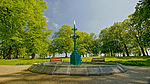 Fountain, Castle Gardens, Lisburn in July 2013.jpg