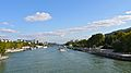 France, Paris, la Seine vue du pont de Sully en direction du pont et du viaduc dAusterlitz.jpg