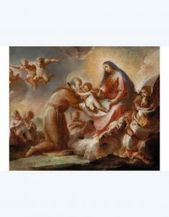 Francesco Conti (painter) - Image: Francesco Conti Francesco Conti Madonna Che Consegna Il Bambino A San Felice Da Cantalice