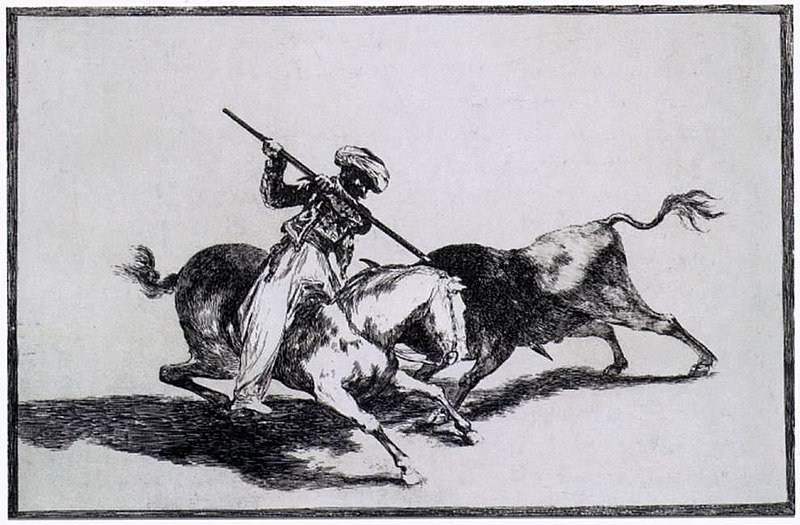 File:Francisco de Goya y Lucientes - The Morisco Gazul is the First to Fight Bulls with a Lance - WGA10141.jpg
