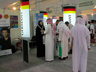 Frankfurt School of Finance & Management - Frankfurt School at a higher education fair in Saudi Arabia. With its programs taught in English it attracts international students from around the world.