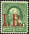 Franklin revenue IR overprint 1c 1898 issue.jpg