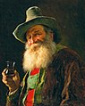 Franz von Defregger - Tyrolean Farmer with Wine Glass.jpg