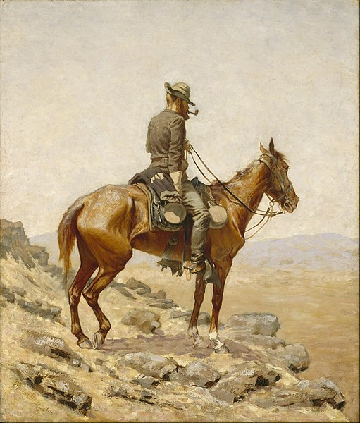 File:Frederic Remington - The Lookout - Google Art Project.jpg