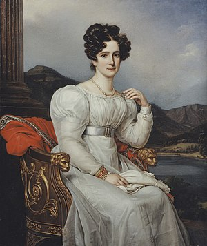 Frederica of Baden - Frederica exiled by Joseph Karl Stieler, c. 1810