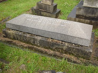 Frederick Haines - Funerary monument, Brompton Cemetery, London