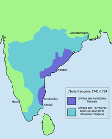 Color-coded map of South India
