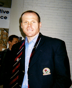 2000–01 Blackburn Rovers F.C. season - Friedel posing for picture outside Loftus Road following Queens Park Rangers vs Blackburn Rovers on 7 April 2001.