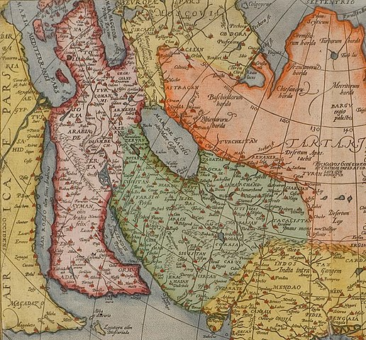 Map 9f Asia.File From A Full Sized Map Of Asia By Ortelius 1595 Early Ed 1575