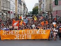 Front of the Seebrücke demonstration Berlin 06-07-2019 41.jpg