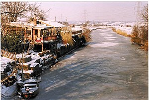 English: Frozen River Rother An alternative vi...