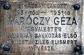 Géza Maróczy plaque Bp08 Köztársaság16.jpg