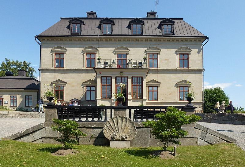 Görvälns slott, fasad mot Mälaren, juni 2013