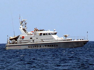 Guardia di Finanza - Patrol boat of the Guardia di Finanza.