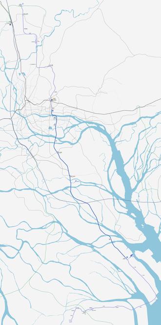 Line 18 (Guangzhou Metro) - Line 18 drawn to scale.