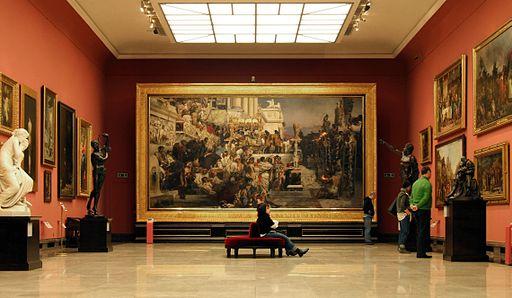 Galeria Sztuki Polskiej XIX wieku w Sukiennicach - sala Siemiradzkiego