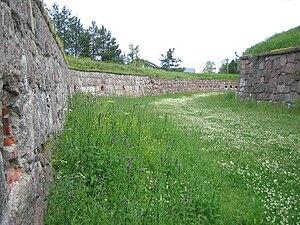 Hamina Fortress - Gallery and fortress wall