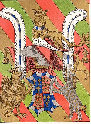 John Beaufort, 1st Duke of Somerset - Image: Garter Plate John Beaufort