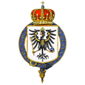 Gartered shield of arms of Frederick William IV, King of Prussia.png