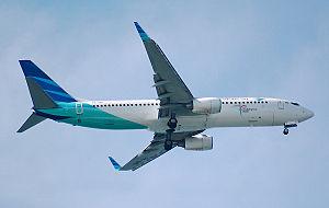 Garuda Indonesia Boeing 737-8U3(WL), PK-GMC, i...