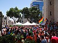 Gay Pride in Haifa 2014 - Haifa City hall (17).JPG