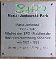 Gedenktafel Bahnhofstr (Köpe) Maria Jankowski.jpg