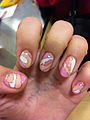 Gel Nails Pink Orange and White Design.jpg