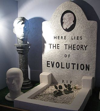 Creation Science Movement - The mock grave at the Genesis Expo