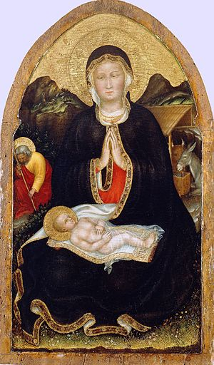 Adoration of the Child (Gentile da Fabriano) - Image: Gentile da fabriano, natività, 1420 21