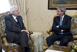 Sergio Mattarella - Mattarella with Prime Minister Paolo Gentiloni, 24 March 2018