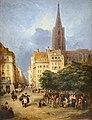 George Jones, Vue de la place Gutenberg à Strasbourg 2.jpg