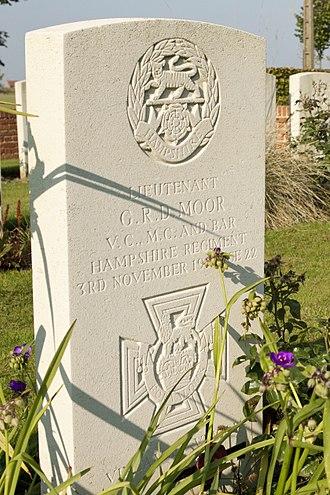 George Moor - Moor's CWGC gravestone