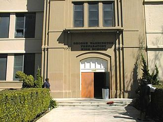 Washington Preparatory High School - Image: George Washington Preparatory High School Main Entrance
