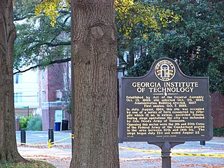 Main campus of the Georgia Institute of Technology building in Atlanta, Georgia, United States