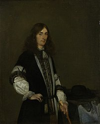 Gerard ter Borch: Portrait of François de Vicq (1646-1707). Burgomaster of Amsterdam for several terms from 1697 on